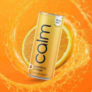 calm drink orange